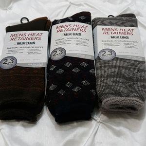 Heat Retainers Muk Luks Thermal Insu (3) 1Pk Socks